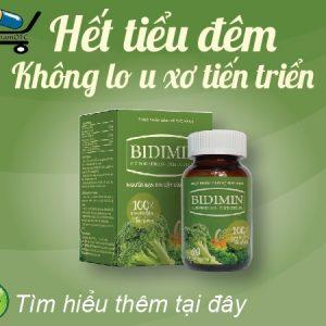 Bidimin là sản phẩm hỗ trợ tiểu đêm, tiểu buốt,