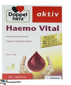 doppelherz aktiv haemo vital bổ sung sắt cho bà bầu