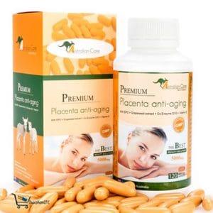 Viên nhau thai cừu Premium Placeta Anti – Aging Soft Gel Capsules nhập khẩu Úc