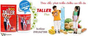 Taller Plus là sản phẩm hỗ trợ tăng chiều cao