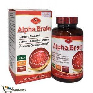 Alpha Brain là sản phẩm tăng cường tuần hoàn máu não, bổ não