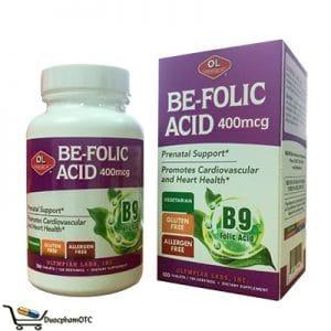 Be Foclic Acid là sản phẩm đến từ Mỹ, bổ sung axit folic