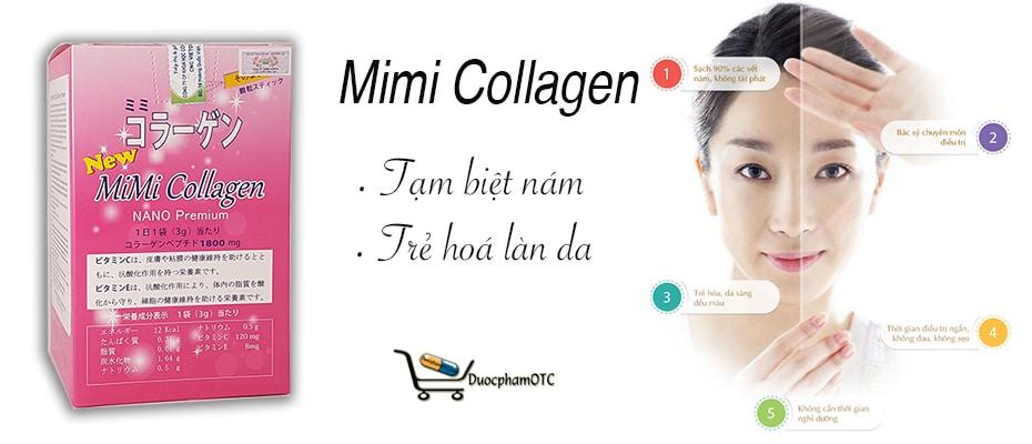 new mimi collagen là sản phẩm cung cấp collagen từ nhật bản