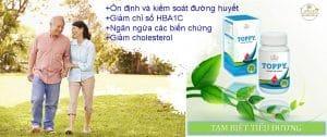 thảo dược toppy là sản phẩm hỗ trợ bênh tiểu đường