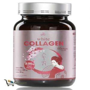 white collagen là sản phẩm cung cấp collagen và mầm đậu nành nguyên chất