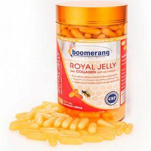 Boomerang Royal Jelly And Collagen Softgel hỗ trợ trung hòa các gốc tự do