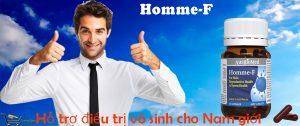 Homme F Dành cho nam giới khó thụ thai, chức năng sinh sản kém