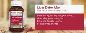 Liver Detox Max được sử dụng để bảo vệ lá gan