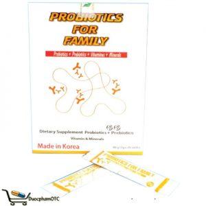 Probiotics For Family men vi sinh bảo vệ hệ tiêu hóa