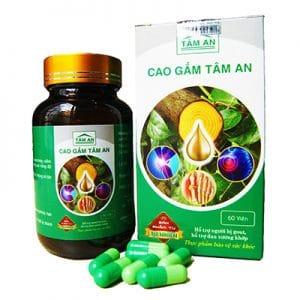 Cao Gắm Tâm An hỗ trợ giảm các triệu chứng đau do gout
