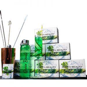 Nước Uống Green Beauty Cần tây - Tảo xoắn - Diệp lục - Collagen - Glutathion