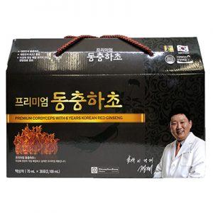 Premium cordyceps with 6 years korean red ginseng nhập khẩ hàn quốc