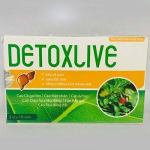 DetoxLive hỗ trợ tăng cường chức năng gan