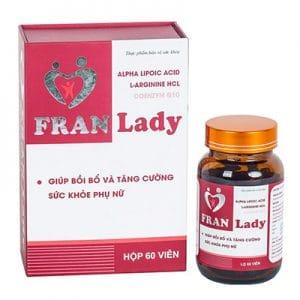 Franlady hỗ trợ tăng sức khỏe phụ nữ