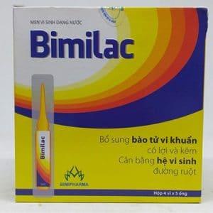 Men vi sinh dạng nước BIMILAC hỗ trợ cân bằng hệ vi sinh đường ruột