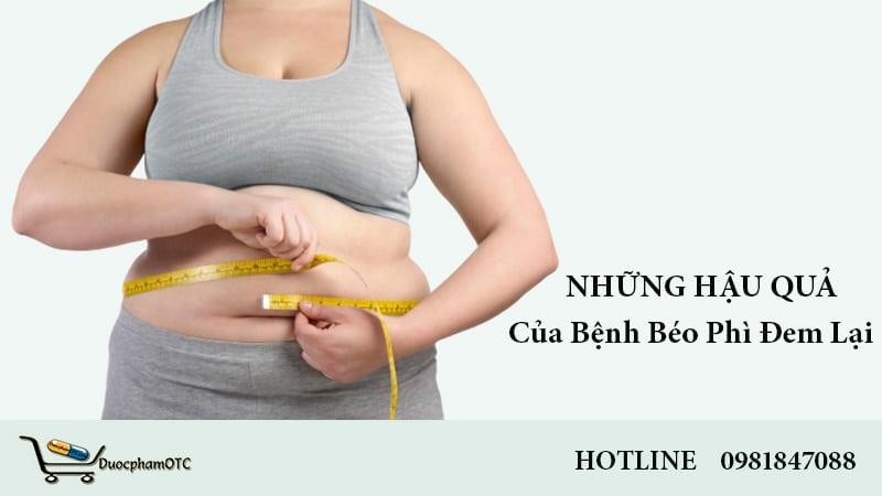 hậu quả của bệnh béo phì