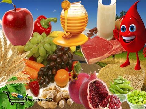 thực phẩm cho người bệnh thiếu máu